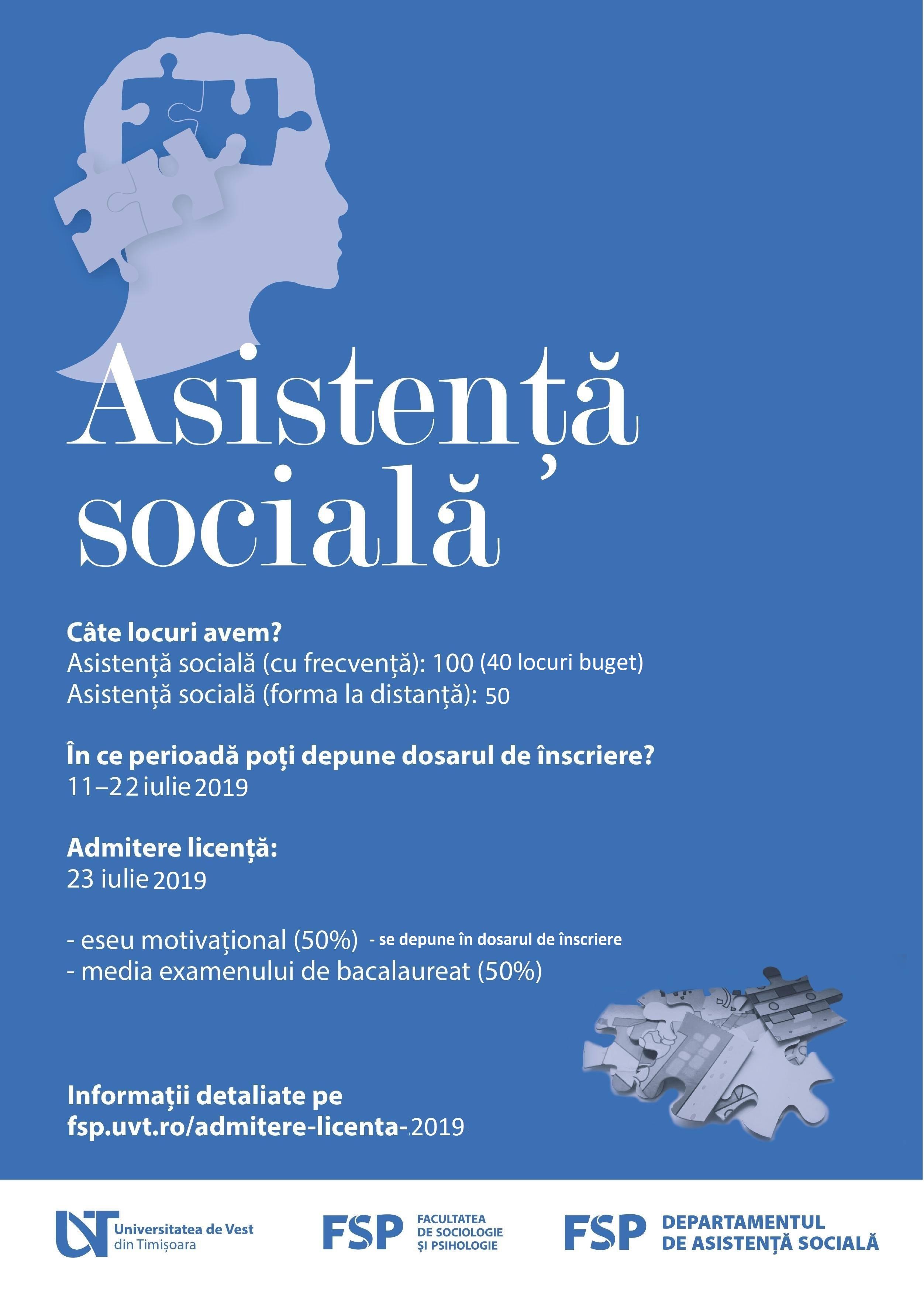 1.ASISTENTA SOCIALA