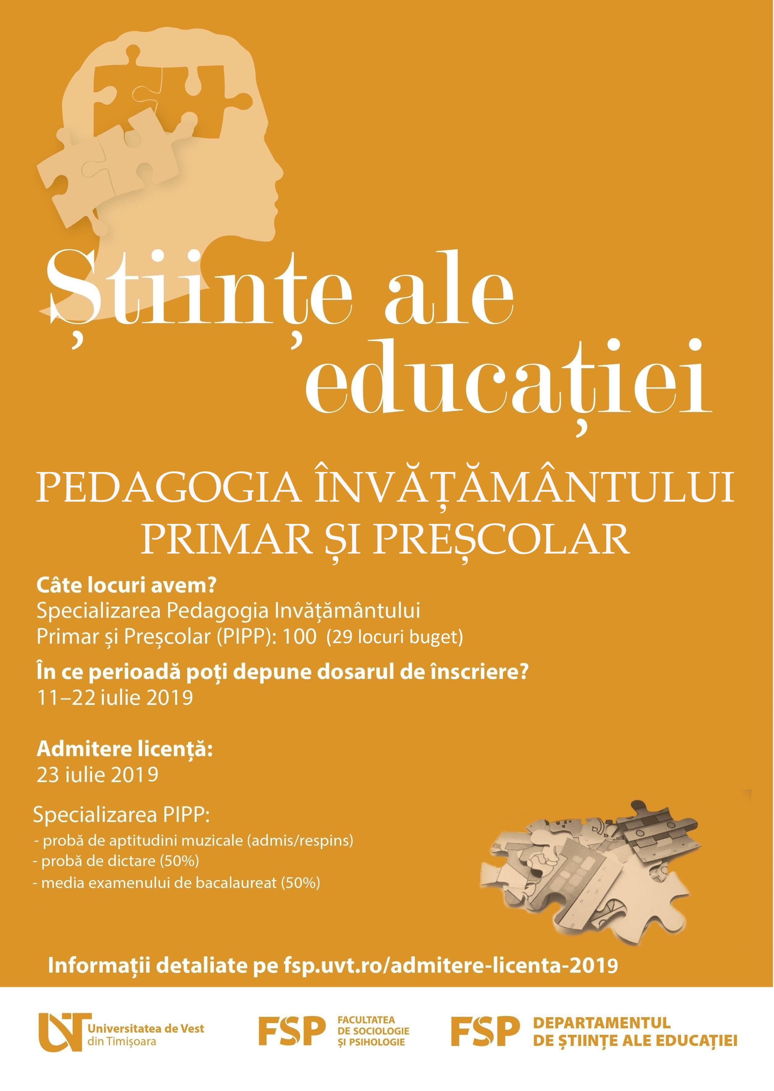 Pedagogia învățământului primar și preșcolar