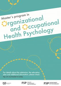Organizational and Ocupational Health Psychology