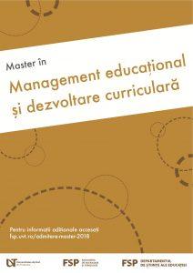 Management educațional și dezvoltare curiculară